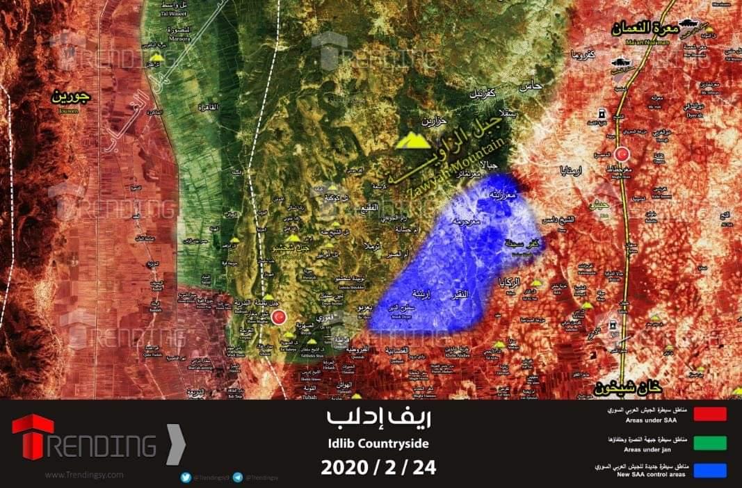 "Photo of ""ريف إدلب"".. مواجهات عنيفة والجيش يُحرر ٨ قرى"