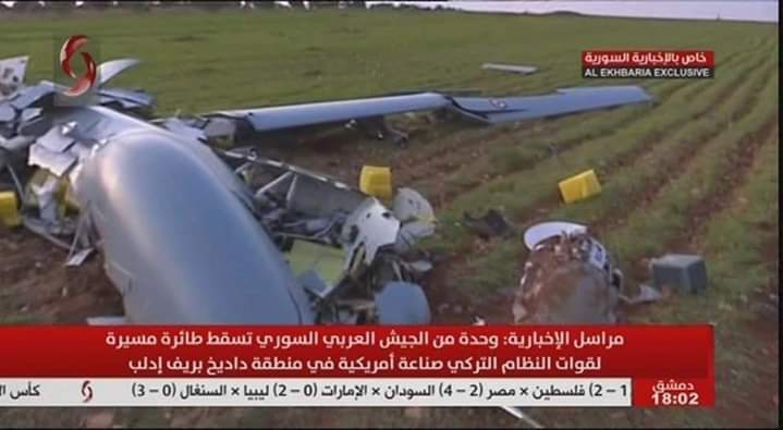 Photo of Syrian Arab Army unit shots down a drone for Turkish regime in Idleb countryside