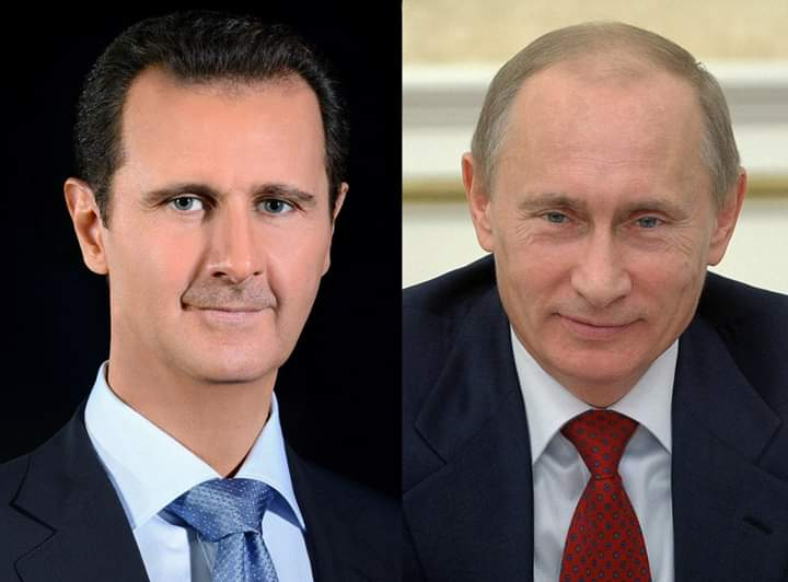 Photo of A phone call between President Assad and President of the Russian Federation, Vladimir Putin touched on developments in the situation in Syria