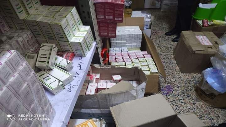 Photo of ضبط مستودع ادوية غير مرخص باللاذقية(صور)