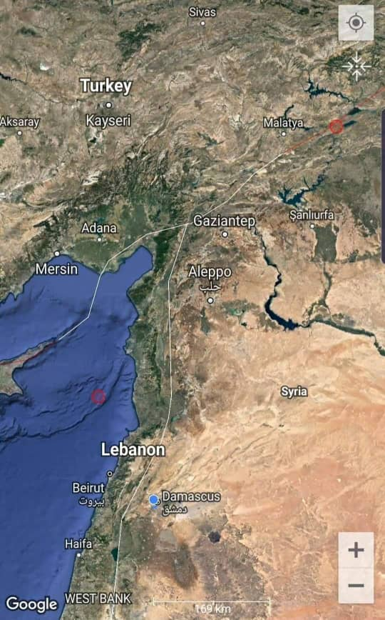 "Photo of هزة بحرية قبالة السواحل ""السورية – اللبنانية"""