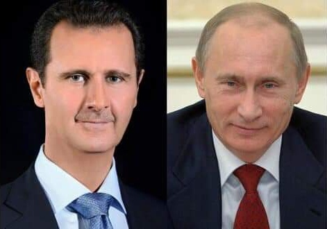 Photo of President al-Assad receives phone call from President Putin on developments of events in Syria