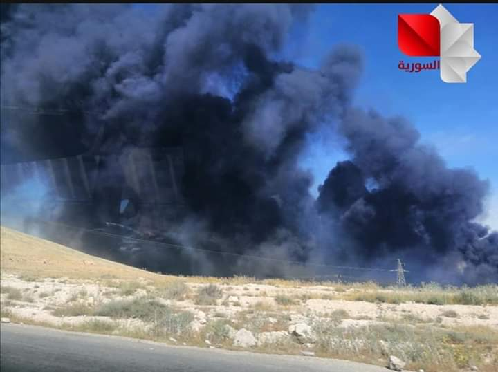 Photo of Firefighters extinguish grass fire in Adra area in Damascus countryside