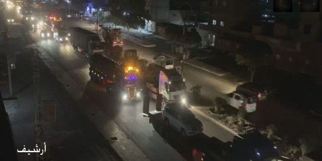 """Photo of """"الاحتلال الأمريكي"""" يدخل 35 شاحنة تحمل تعزيزات عسكرية ومواد لوجستية إلى ريف الحسكة"""