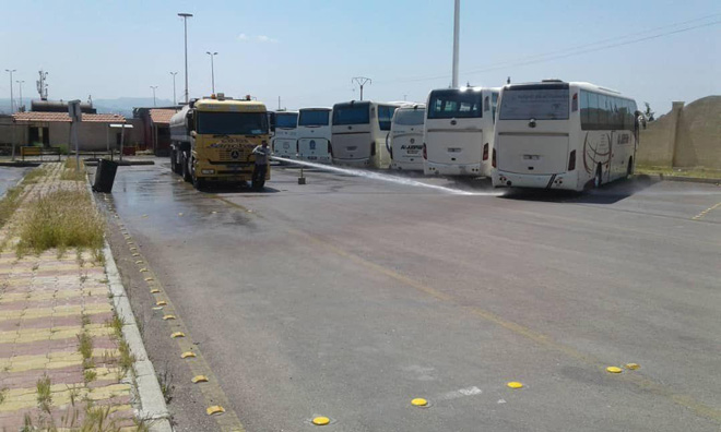Photo of تجهيز وسائل نقل لتأمين المواطنين المسافرين إلى المحافظات يومي الاثنين والثلاثاء