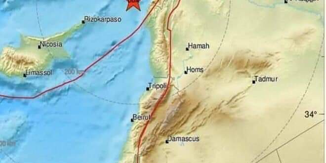 Photo of Earthquake registered at 4.7 scale at Syrian coast