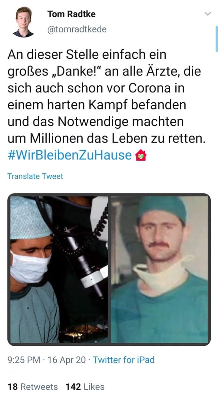 Photo of مغرد ألماني ينشر صورة الرئيس بشار الأسد موجهاً تحية للأطباء في العالم