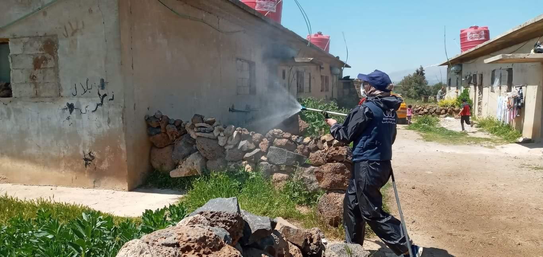 "Photo of ""جمعية نور"" للإغاثة تنفذ حملة تعقيم في محافظة القنيطرة"