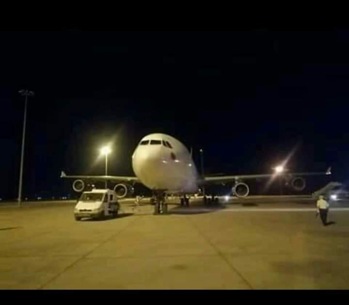 Photo of Plane carrying Syrians stranded abroad arrives at Damascus Int'l Airport from UAE