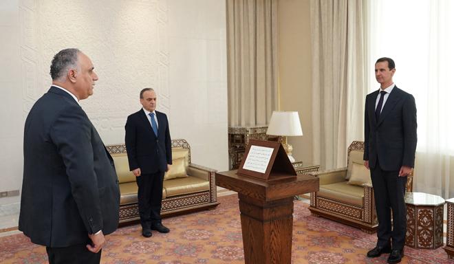 Photo of البرازي يؤدي اليمين الدستورية أمام الرئيس الأسد