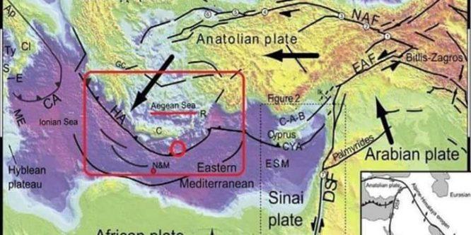 الهزات الإرتدادية الحاصلة و تأثيرها على النشاط الزلزالي في حوض البحر المتوسط