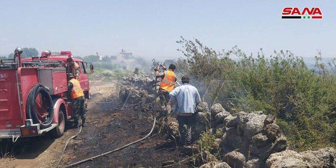 Photo of السويداء.. إخماد حريق في حراج بلدة قنوات ومواصلة الجهود لإخماد آخر في بلدة سليم