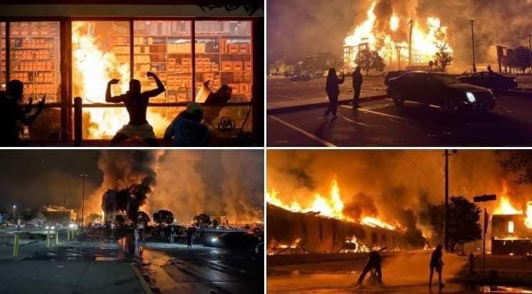 Photo of شوارع تحولت إلى رماد… احتجاجات واسعة على مقتل شاب تحت ركبة شرطي أمريكي