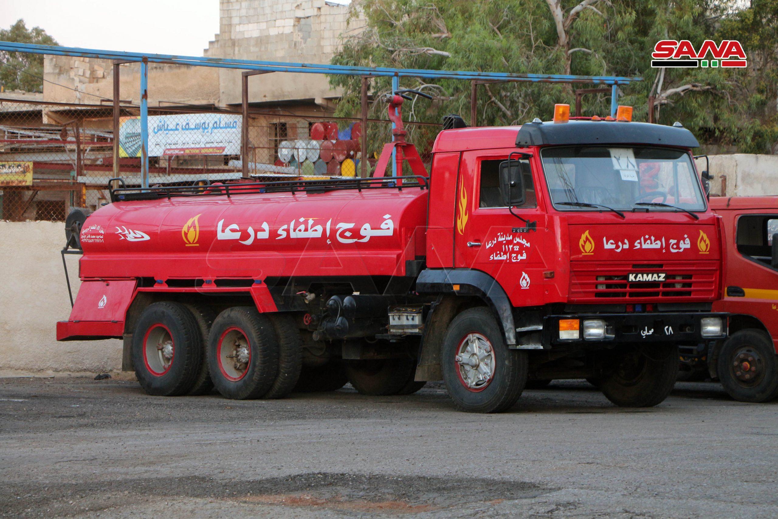Photo of إخماد 6 حرائق بمناطق في درعا
