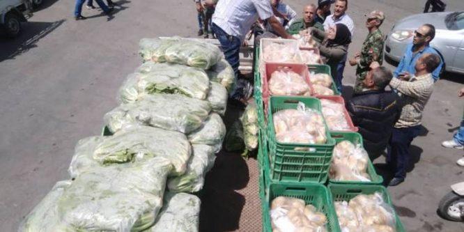 محافظة دمشق تحدد 8 مناطق سيباع فيها الخضار بنصف القيمة.
