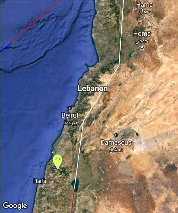 Photo of هزتان أرضيتان تبعد مسافة ٩٩ كم جنوب مدينة بيروت