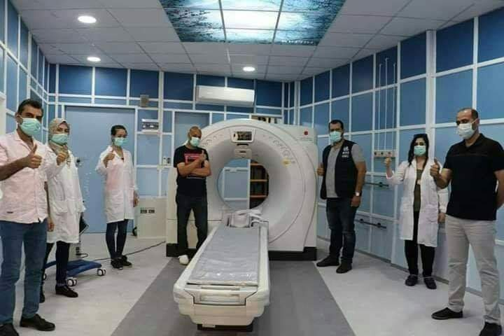 Photo of منظمة الصحة العالمية تزود مشفى البيروني بجهاز أشعة مقطعية متطور