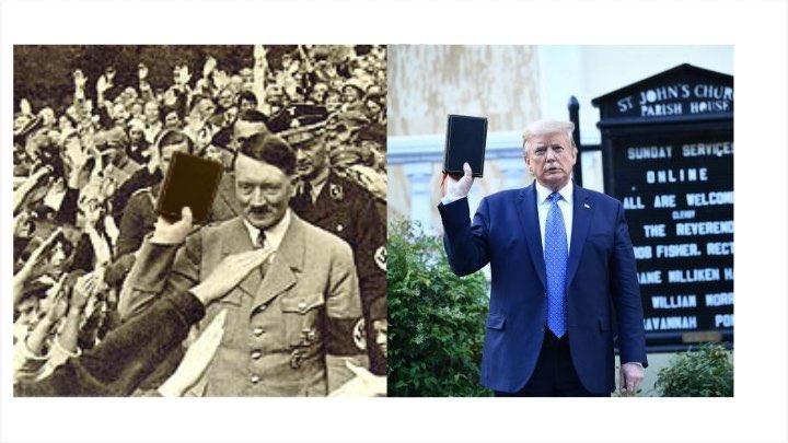 Photo of تويتر يتخذ إجراء بشأن صورة مُعدلة تجمع ترامب وهتلر