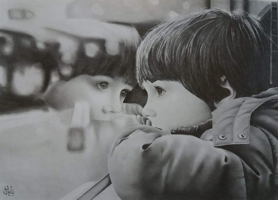 Photo of نافع العلي اتقن الرسم فباتت لوحاته كصور فوتوغرافية بإبداع واقعي
