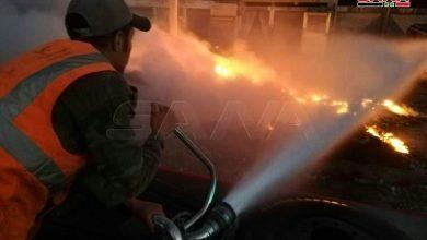 Photo of إخماد حريق نشب بمخلفات صناعية في حمص