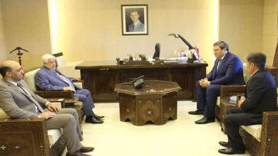 Photo of Al-Moallem receives a copy of credentials of Abkhazia new Ambassador to Syria