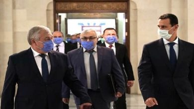 Photo of President al-Assad receives Lavrenteiv and Vershinin