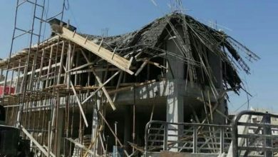 Photo of انهيار سطح مبنى قيد الإنشاء لأسباب فنية وإصابة عامل في حمص