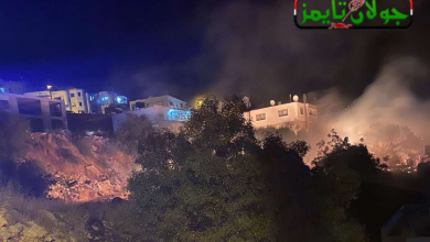 Photo of استهداف العدو الإسرائيلي لنقاط باتجاه القنيطرة بالقرب من بلدة حضر