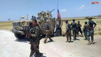 Photo of فيديو يوثق لحظة هروب مشاة الجيش الأمريكي من مواجهة جنود سوريين