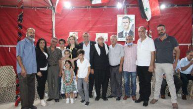 Photo of جرمانا تحتفل بفوز ابن الجولان رضا الدمقسي في عضوية مجلس الشعب