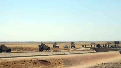 Photo of Army personnel intercept a military convoy for US occupation forces in Hasaka northern countryside