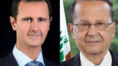Photo of الرئيس الأسد يُعزي الرئيس عون ويعلن تضامن سوريا مع الشعب اللبناني المقاوم