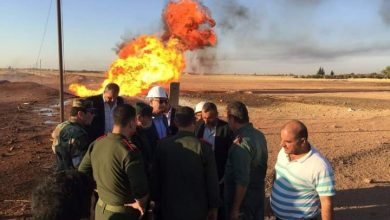 Photo of Fires at Arab gas pipeline due to terrorist attack extinguished