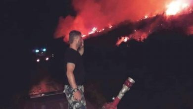 Photo of A huge fire extinguished in Ain al-Krum in Hama countrysid
