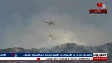 Photo of A Fire in Ain Halaqim and Hazour extinguished almost completely