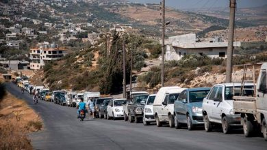 Photo of مجموعة لقطات تظهر «طابور البنزين» بريف مصياف