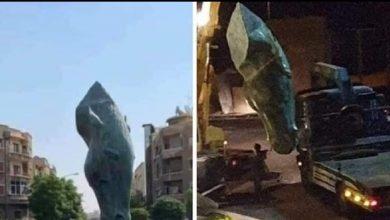 Photo of تمثال نصب في دمشق و أزيل بعد أقل من 24 ساعة