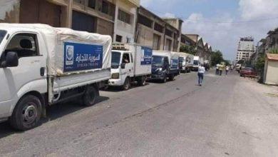 Photo of سيارات جوالة لتوزيع المواد التموينية في القرى المتضررة جراء الحرائق بريف اللاذقية