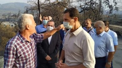 Photo of President al-Assad visits Ballouran to inspect damage, meet locals within tour on some areas affected by fires