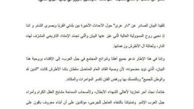 "Photo of مكتب شيخ العقل: نرحب ببيان ""دار عرى"" ونؤيد مضمونه"