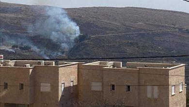 Photo of حريق في منطقة عين التينه مقابل مجدل شمس ويصل لأحد المنازل(صور)