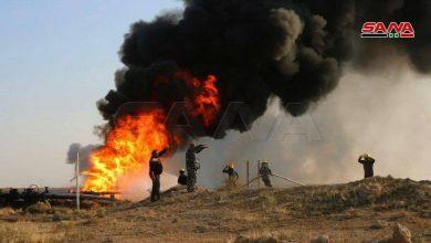 Photo of نشوب حريق في أحد خطوط النفط بدير الزور وفرق الإطفاء تعمل على إخماده