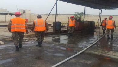 Photo of Fire that erupted in new Sham petrol station on al-Faiha Road fully extinguished