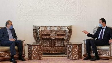 Photo of President Al_Assad receives Mr. Ali Asghar Khaji, Senior Assistant to the Iranian Foreign Minister