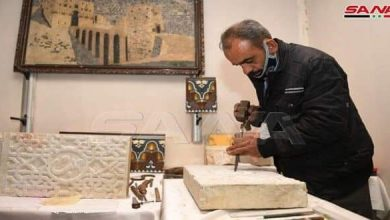 Photo of Rozana Handicrafts Exhibition opened in old city of Aleppo