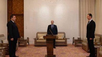 Photo of Syria's new ambassador to Iran Sworn in before President Al-Assad