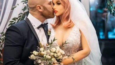 Photo of بالصور – لاعب كمال أجسام كازاخستاني يحتفل بزواجه من دمية!