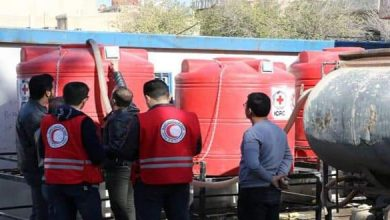 Photo of Hasaka Red Crescent supplies tanks for drinking water to Hasaka schools