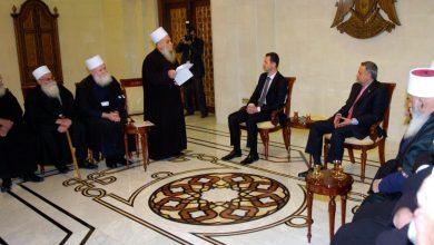 Photo of الشيخ الغريب يعزي الرئيس الأسد بوزير الخارجية وليد المعلم