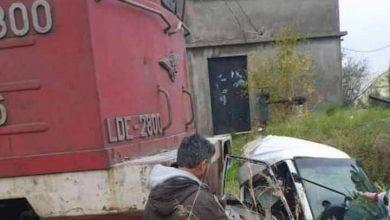 Photo of اصطدام قطار بسيارة على سكة طرطوس اللاذقية